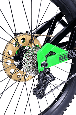 Rozeta elektrického motocykla Boxxbike