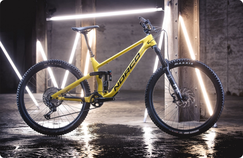 Norco sight in yellow color shining like a star